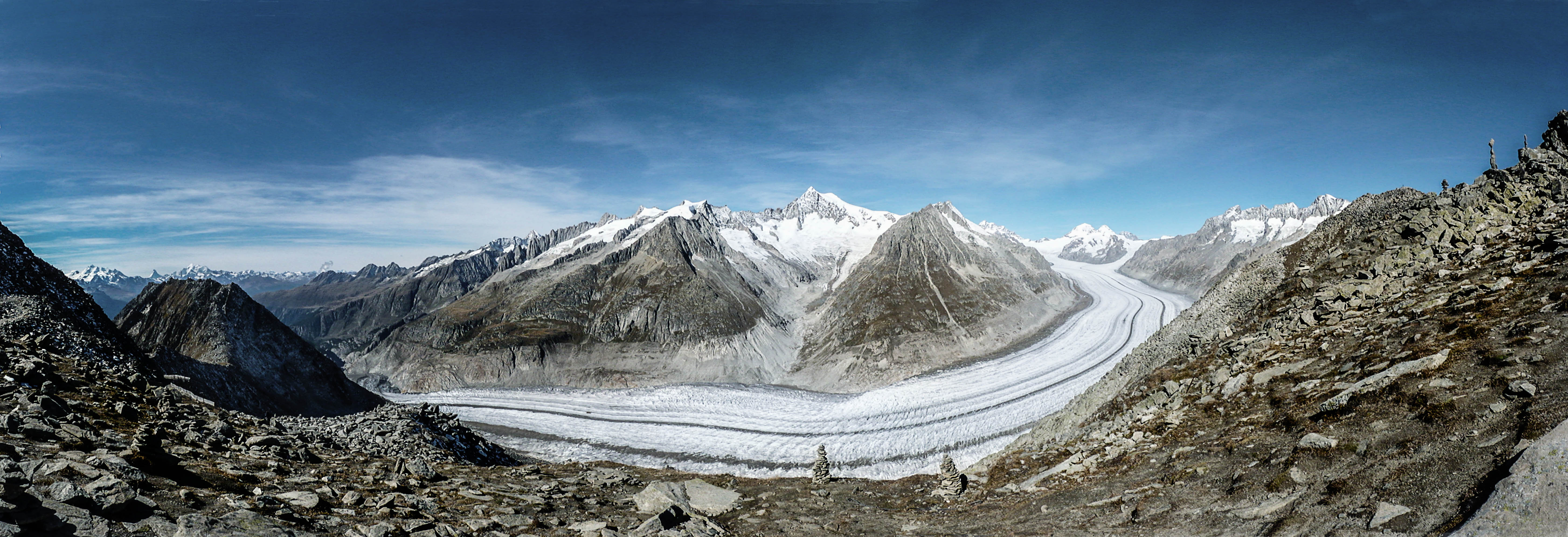 aletsch gletscher panorama